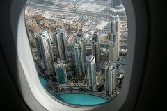 Dubai, UAE. Aerial view from the height of Burj Khalifa Royalty Free Stock Images