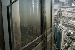 Dubai, UAE. Aerial view from the height of Burj Khalifa Royalty Free Stock Image