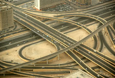Dubai, UAE. Aerial view from the height of Burj Khalifa Stock Images