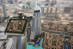 Dubai, UAE. Aerial view from the height of Burj Khalifa Royalty Free Stock Photography