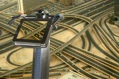 Dubai, UAE. Aerial view from the height of Burj Khalifa Stock Photography