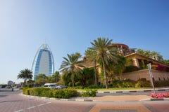 DUBAI, UAE - 11. APRIL: Ansicht des Souk Madinat Jumeirah Madinat Stockbild
