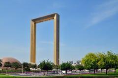 Dubai, UAE - April 8. 2018. Dubai frame - building in form of frame for photos Stock Images