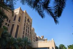 DUBAI UAE - APRIL 11: Sikt av Souken Madinat Jumeirah Madinat Fotografering för Bildbyråer