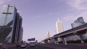 Underground station on the Sheikh Zayed Road in Dubai stock footage video stock video footage