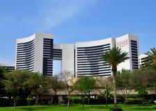 Dubai, UAE - April 8. 2018. View of hotel Grand Hyatt. Stock Images