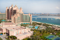 Dubai, UAE. Atlantis hotel from above Stock Images