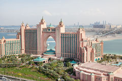 Dubai, UAE. Atlantis hotel from above Royalty Free Stock Photography