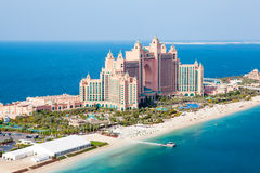 Dubai, UAE. Atlantis hotel from above Royalty Free Stock Image
