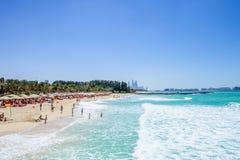 Dubai,UAE.Beach view. Royalty Free Stock Images