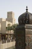 Dubai UAE Beautifully detailed lanterns lining bridge at Madinat Jumeirah Resort in Jumeira Stock Image