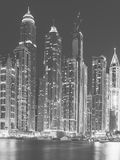 Dubai, UAE. Black and White series Stock Image