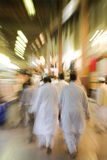Dubai UAE The Bur Dubai souq is crowded with pedestrians just after dark. Royalty Free Stock Images