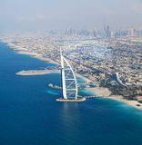 Dubai, UAE. Burj Al Arab from above Stock Image