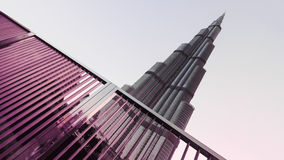 DUBAI, UAE: Burj khalifa, Downtown on September 29, 2014 Royalty Free Stock Photography