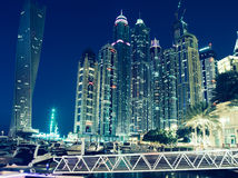 Dubai ,UAE. Cross processing series. Royalty Free Stock Photo