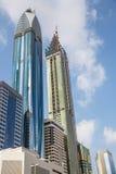 DUBAI, UAE 16 DE JANEIRO: Arranha-céus no centro da cidade em janeiro Fotografia de Stock