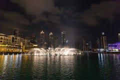 DUBAI, UAE 16 DE JANEIRO: Arranha-céus no centro da cidade em janeiro Imagens de Stock