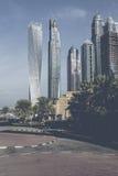 DUBAI, UAE - 18 DE JANEIRO DE 2017: Porto de Dubai no nascer do sol, unido Imagem de Stock