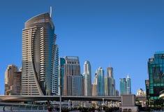 DUBAI, UAE - 4 DE JUNHO: A área residencial Fotos de Stock Royalty Free