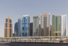 DUBAI, UAE - 11 DE MAIO DE 2016: torres Foto de Stock Royalty Free