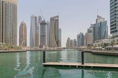 DUBAI, UAE - 12 DE MAIO DE 2016: vista de Dubai Imagem de Stock