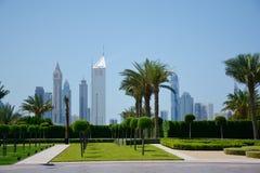 DUBAI, UAE - 24 DE MARZO DE 2016: DUBAI céntrico Imagen de archivo libre de regalías