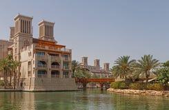 DUBAI, UAE - 14 DE MAYO DE 2016: hotel en Souk Madinat Fotografía de archivo libre de regalías