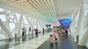 Dubai, UAE - 15 de mayo de 2018: El piso más alto del bastidor de Dubai con los turistas El capítulo de Dubai es uno de la última almacen de metraje de vídeo