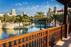 DUBAI, UAE - 15 DE NOVEMBRO: A vista do Souk Madinat Jumeirah Fotografia de Stock Royalty Free