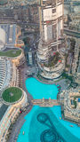 DUBAI, UAE - DECEMBER 4, 2016: Aerial view of Downtown buildings Stock Photography
