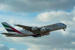 DUBAI, UAE - DECEMBER, 2016: Airbus A380 Royalty Free Stock Image