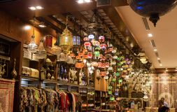 Handicraft items in Dubai mall stock images