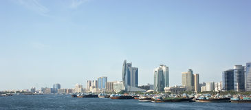 DUBAI, UAE , Deira , Port Said, the Bay Creek Stock Photos