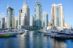 Dubai, UAE, Dubai Marina Promenade, em novembro de 2015 Fotos de Stock