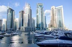Dubai UAE, Dubai Marina Promenade, November 2015 Royaltyfri Foto