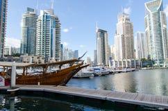 Dubai UAE, Dubai Marina Promenade, November 2015 Fotografering för Bildbyråer
