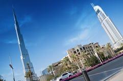 Burj Khalifa und das Adressen-Hotel Stockbild