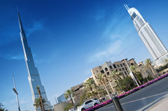 Burj Khalifa and the Address Hotel Stock Image