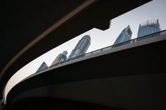Tallest buildings of Dubai Marina, UAE stock image