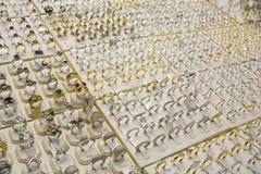 Dubai UAE Gold silver and diamond rings displayed Deira�s gold souq. Royalty Free Stock Photos
