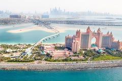 Dubai, UAE Hotel de Atlantis de acima Fotos de Stock