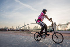 Dubai, UAE - Jan 27, 2017: Bikers in Dubai. Stock Images