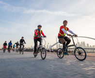 Dubai, UAE - Jan 27, 2017: Bikers in Dubai. Royalty Free Stock Photos