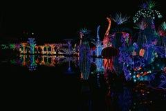 DUBAI, UAE - Jan  06: Dubai Garden Glow in Dubai, UAE, as seen on Jann 06, 2019. It is spread across 40 acres, with 32 royalty free stock images
