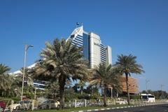 DUBAI UAE - januari 05,2018: Det Jumeirah strandhotellet, i Jumei Royaltyfri Foto