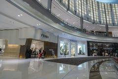 DUBAI UAE - januari 06,2018: inom den Dubai gallerian Dubaien M Fotografering för Bildbyråer