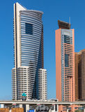 DUBAI, UAE-JANUARY 15: City streets January 15, 2014 in Dubai, U Stock Image
