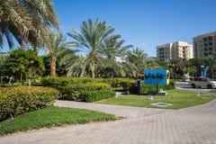 DUBAI, UAE-JANUARY 15: City streets January 15, 2014 in Dubai, U Stock Images
