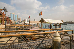 DUBAI, UAE-JANUARY 18: Traditional Abra ferries on January 18, 2 Royalty Free Stock Images